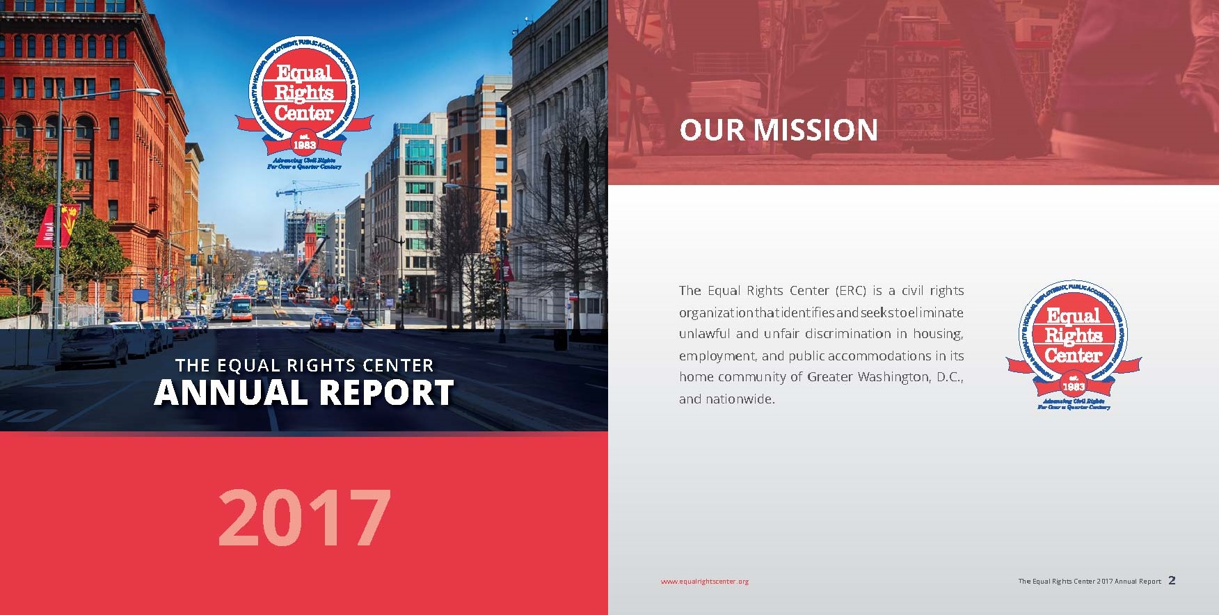Cover page for the ERC 2017 Annual Report