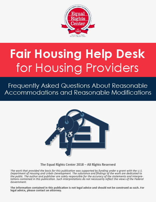 Cover page for FAQ Fair Housing Help Desk for Housing Providers