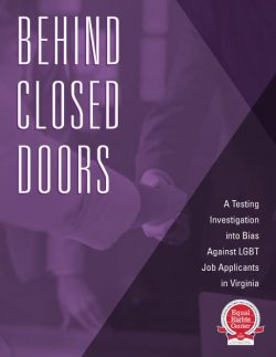 Cover page for Behind Closed Doors report