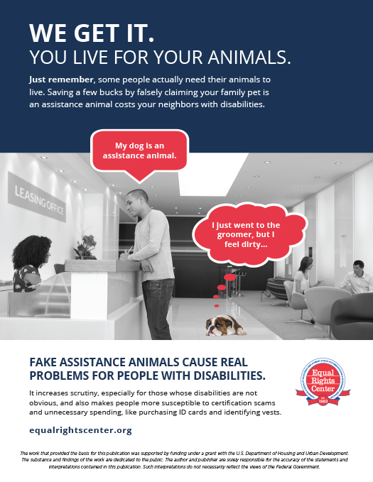 Information page about problems created by fake service animals